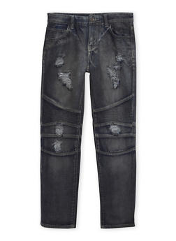 Boys 8-18 Distressed Moto Jeans - 1720051100015