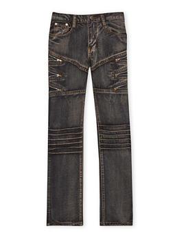 Boys 8-18 Zip Moto Jeans - 1720063370001