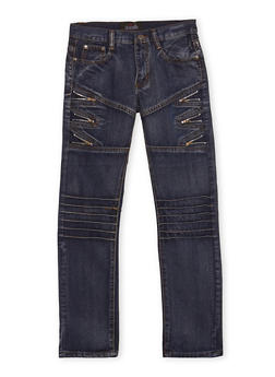 Boys 8-18 Moto Jeans with Zipper Accents - 1720063370002