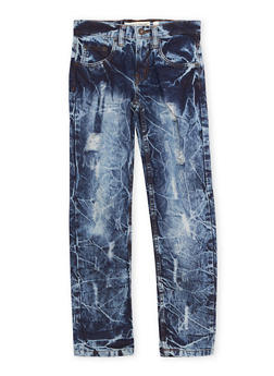 Boys 8-20 Acid Wash Jeans with Ripped Details - 1720073150010