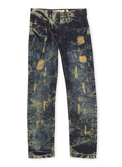 Boys 8-20 Ripped Jeans in Vintage Acid Wash - 1720073150011