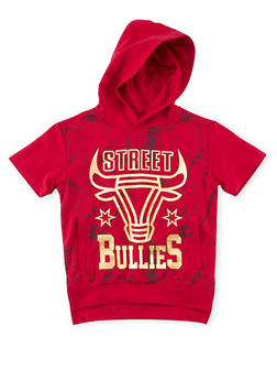 Boys 8-20 Hooded Tee with Street Bullies Graphic - 1721072700055