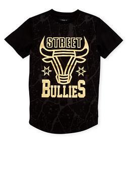 Boys 8-20 Paint Splattered T Shirt with Street Bullies Print - 1721072700059