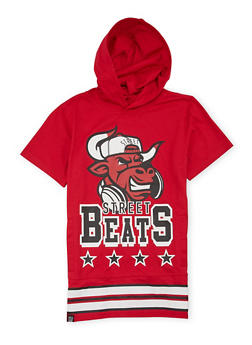 Boys 8-20 Hooded Tee with Street Beats Graphic - 1721072700075