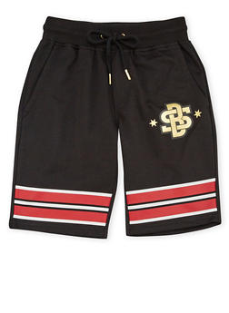 Boys 8-20 Graphic Shorts with Drawstring - 1721072700094