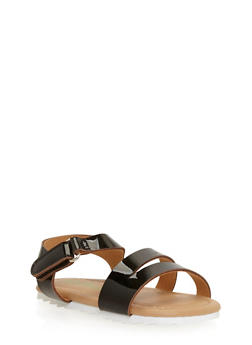 Girls 5-10 Double Strap Sandals - 1737046950021