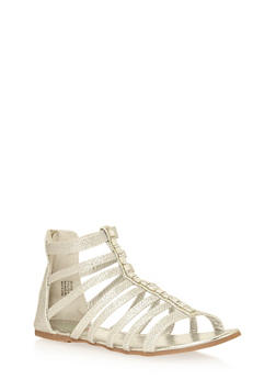 Girls 11-4 Glitter Studded Gladiator Sandals - 1737046950032