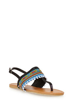 Girls 11-4 Tribal Thong Sandals - 1737046950040