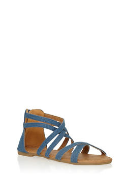 Girls 11-4 Criss Cross Strappy Sandals - 1737061120135