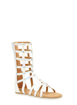Girls 11-4 Tall Studded Gladiator Sandals - 1737061120137