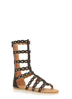 Girls 11-4 Tall Studded Gladiator Sandals - 1737061120140