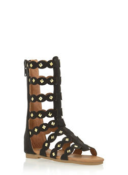 Toddlers 5-10 Tall Studded Gladiator Sandals - 1737061120150