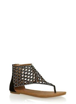 Girls 11-4 Studded Cutout Sandals - 1737061120158