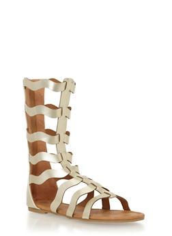 Girls 11-4 Tall Wave Strap Gladiator Sandals - 1737061120191