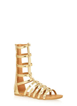 Girls 11-4 Tall Strappy Gladiator Sandals - 1737061120194