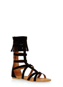 Girls 11-4 Tall Fringe Gladiator Sandals - 1737061120220