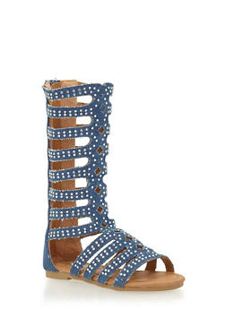 Girls 5-10 Tall All Over Studded Gladiator Sandals - 1737061120237