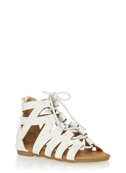 Girls 5-10 Zig Zag Lace Up Gladiator Sandals - 1737061120257