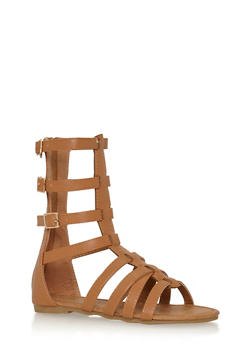 Girls 11-4 Gladiator Sandals with Buckles - 1737061120279