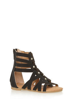 Girls 5-10 Studded Strappy Gladiator Sandals - 1737061120285