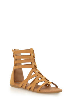Girls 11-4 Mid Zip Back Gladiator Sandals - 1737061120295