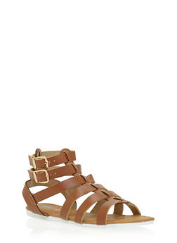 Girls 11-4 Double Strap Gladiator Sandals - 1737061120338