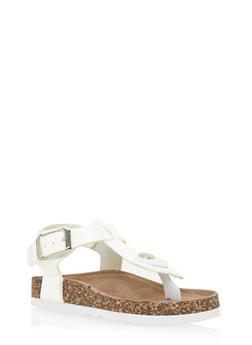 Girls 5-10 T Strap Sandals - 1737061120344