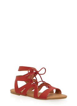 Girls 11-4 Lace Up Gladiator Sandals - 1737061120345