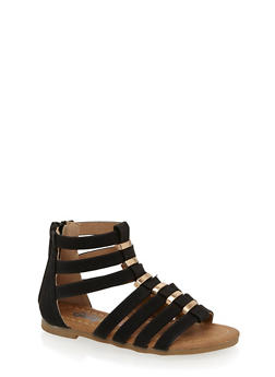 Girls 5-10 Zip Back Gladiator Sandals - 1737061120355