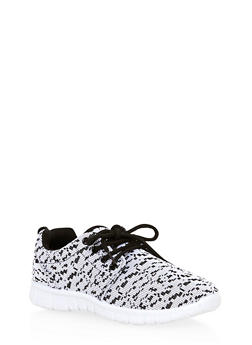 Girls Marled Lace Up Sneakers - 1737062720020