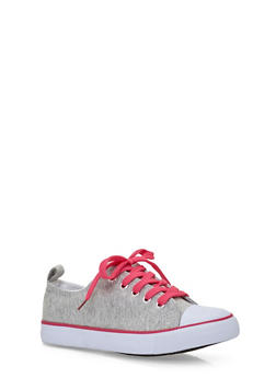 Girls 12-4 Knit Tennis Sneakers - 1737062720025