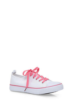 Girls 12-4 Classic Low Top Tennis Sneakers - 1737062720026