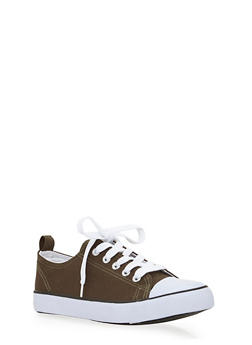 Girls 12-4 Low Top Canvas Sneakers - 1737062720029