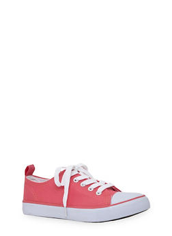Girls 12-4 Solid Tennis Sneakers - 1737062720030
