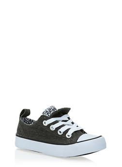 Toddlers 6-11 Double Tongue Canvas Sneakers - 1737062720042
