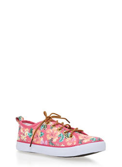 Girls 12-4 Floral Low Top Sneakers - 1737062720068