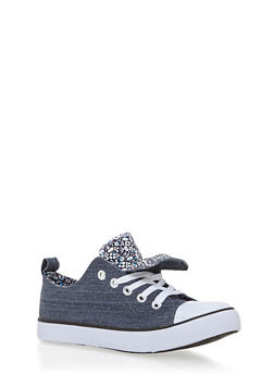 Girls 12-4 Printed Interior Canvas Sneakers - 1737062720072