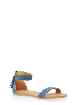 Girls 11-4 Ankle Strap Sandals - 1737064790012