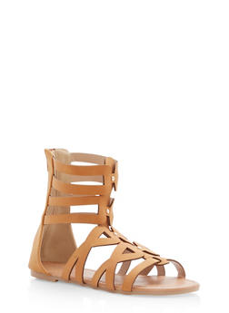 Girls 11-4 Strappy Studded Gladiator Sandals - 1737064790035