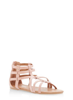 Girls 11-4 Studded Gladiator Sandals - 1737064790041