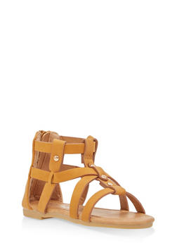 Girls 5-10 Faux Leather Gladiator Sandals - 1737064790044