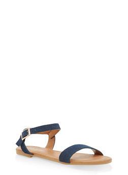 Girls 11-4 Ankle Strap Sandals - 1737064790048