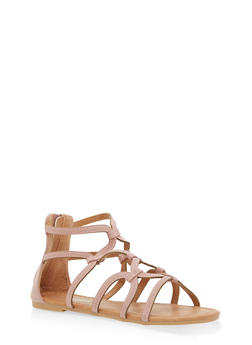 Girls 11-4 Linked Strappy Sandals - 1737064790058