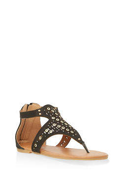 Girls 11-4 Studded Thong Sandals - 1737064790061