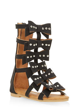 Girls 5-10 Studded Bow Gladiator Sandals - 1737064790098