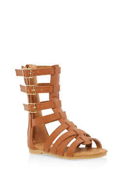 Girls 5-10 Tall Gladiator Sandals - 1737064790105