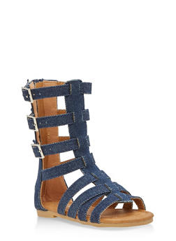 Girls 5-10 Tall Gladiator Sandals - 1737064790105