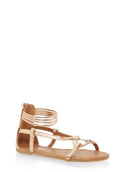 Girls 11-4 Ankle Strap Sandals - 1737064790123