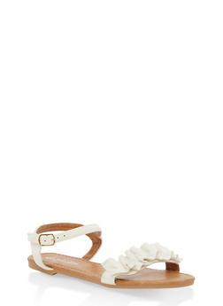 Girls 11-4 Ruffled Sandals - 1737064790125