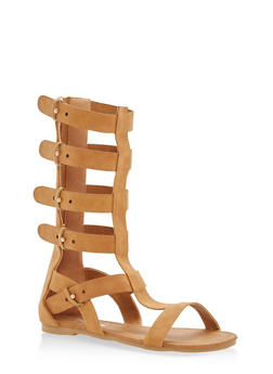 Girls 11-4 Gladiator Sandals - 1737064790166